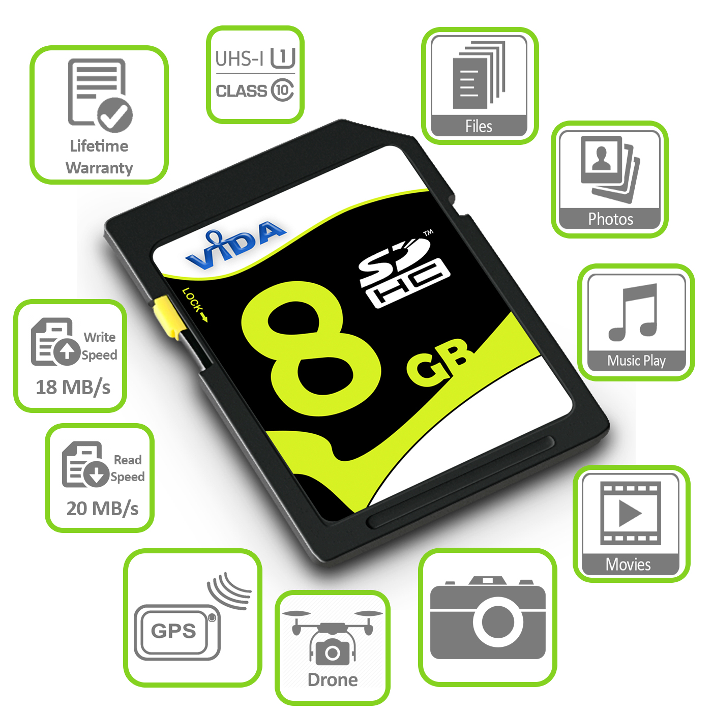 16GB SDHC HC-SD MEMORY CARD FOR CANON POWERSHOT S3 IS