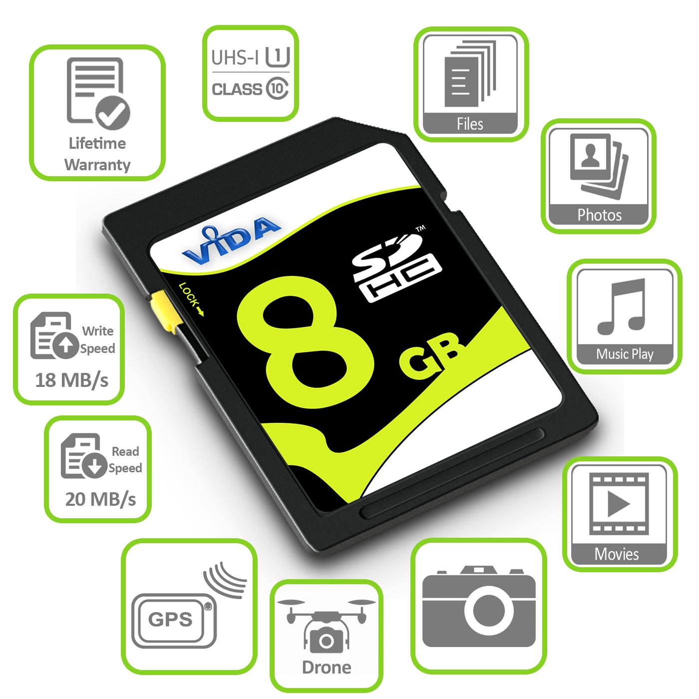 Nuevo 16GB SD Tarjeta de memoria SDHC de Velocidad Clase 10 UHS-1 para Canon PowerShot A3100 IS