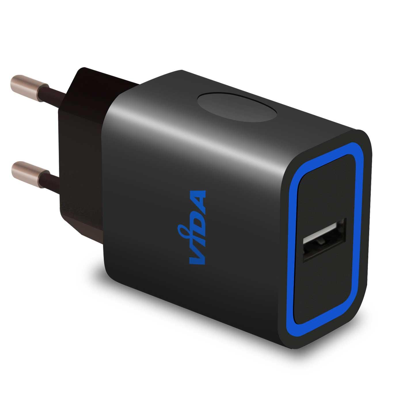 Caricabatteria-da-Muro-a-Parete-Super-Veloce-Caricatore-USB-2-4A-Per-Cellulare miniatura 6