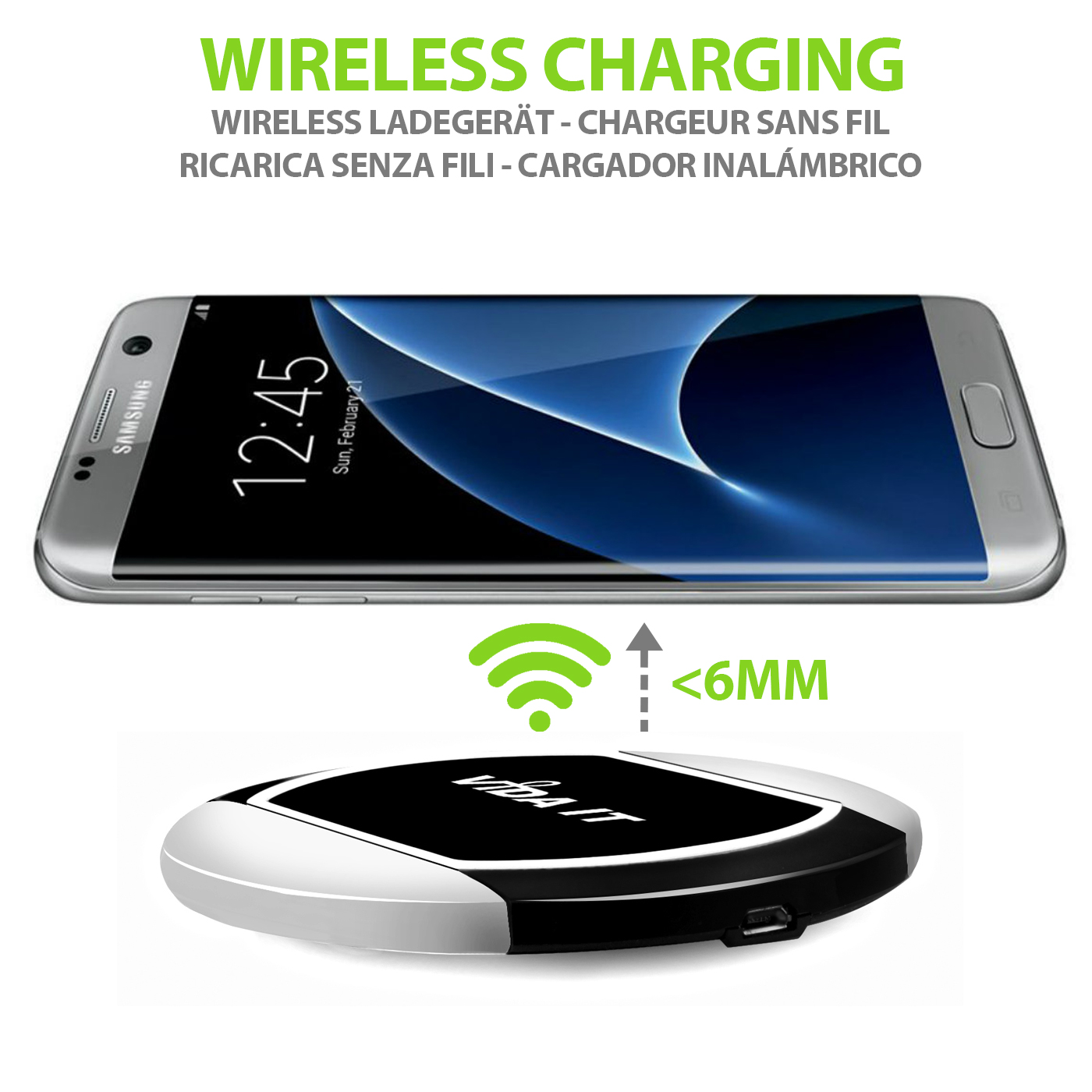 inductive qi wireless charging pad for nokia lumia 950. Black Bedroom Furniture Sets. Home Design Ideas