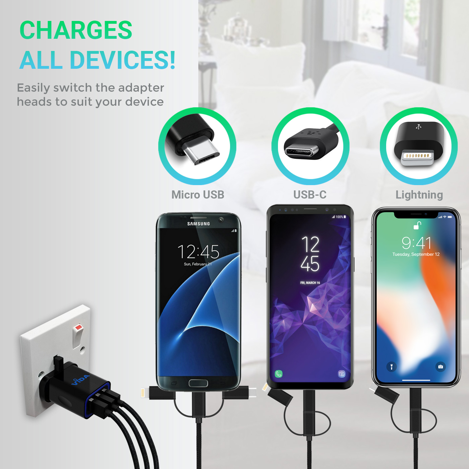 Tek Styz PRO OTG Power Cable Works for Kyocera Event with Power Connect Any Compatible USB Accessory with MicroUSB Cable!