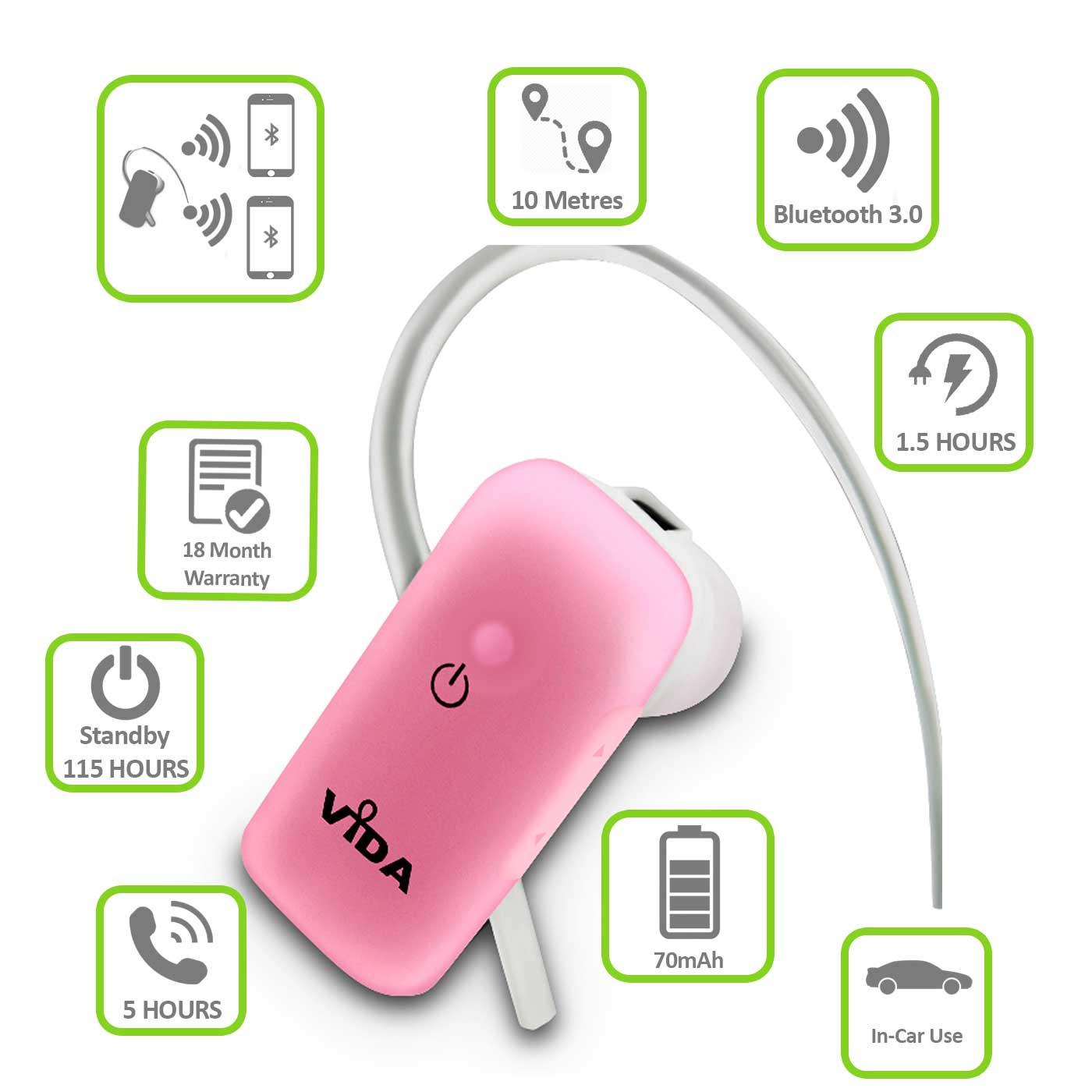 rosa bluetooth headset kopfh rer f r samsung i9190 galaxy. Black Bedroom Furniture Sets. Home Design Ideas