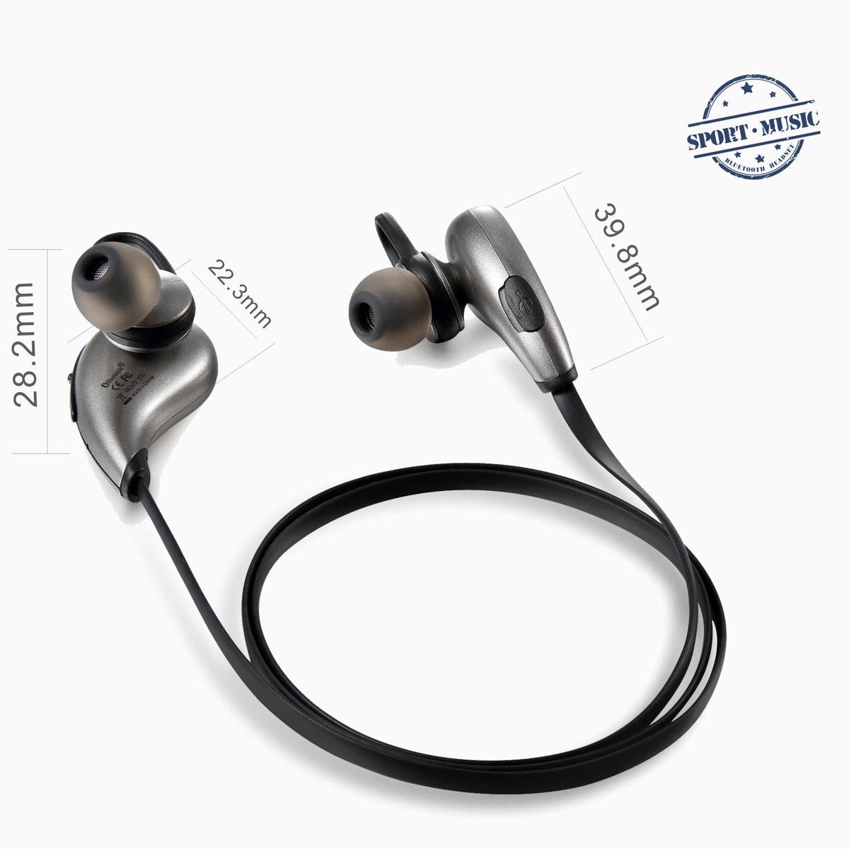 stereo bluetooth ohrh rer kopfh rer headset mit mikrofon f r handy sport halle ebay. Black Bedroom Furniture Sets. Home Design Ideas