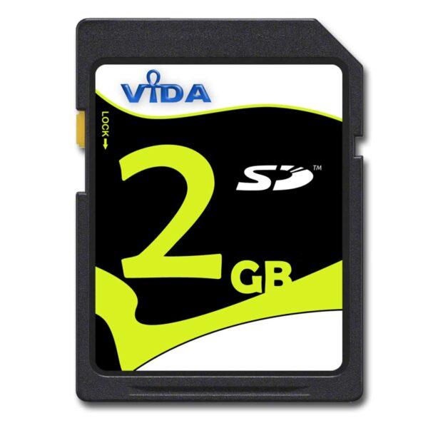 Vida 2GB SD Secure Digital Class 4 Memory Card