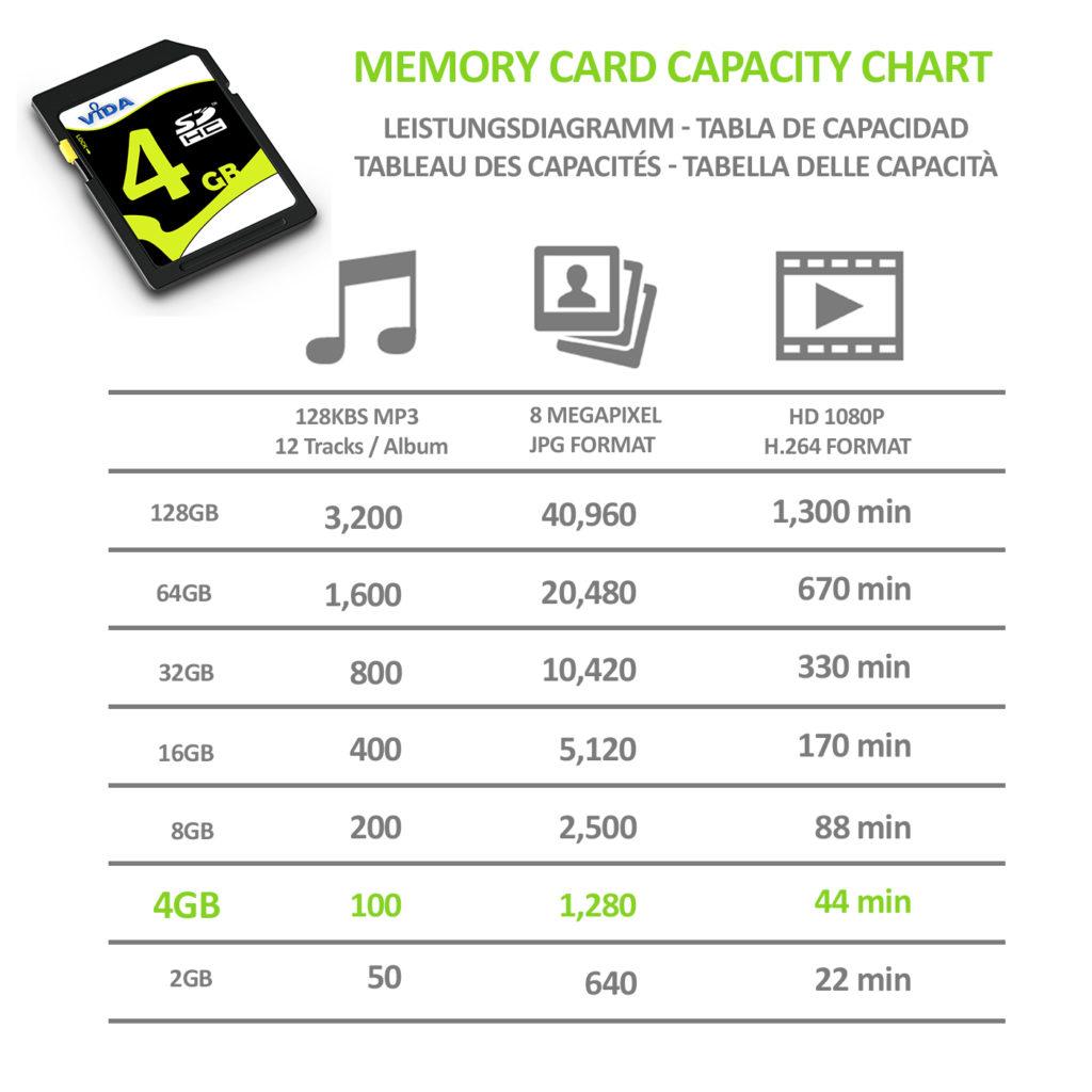Vida 4GB SD/SDHC Secure Digital Class 10 Memory Card
