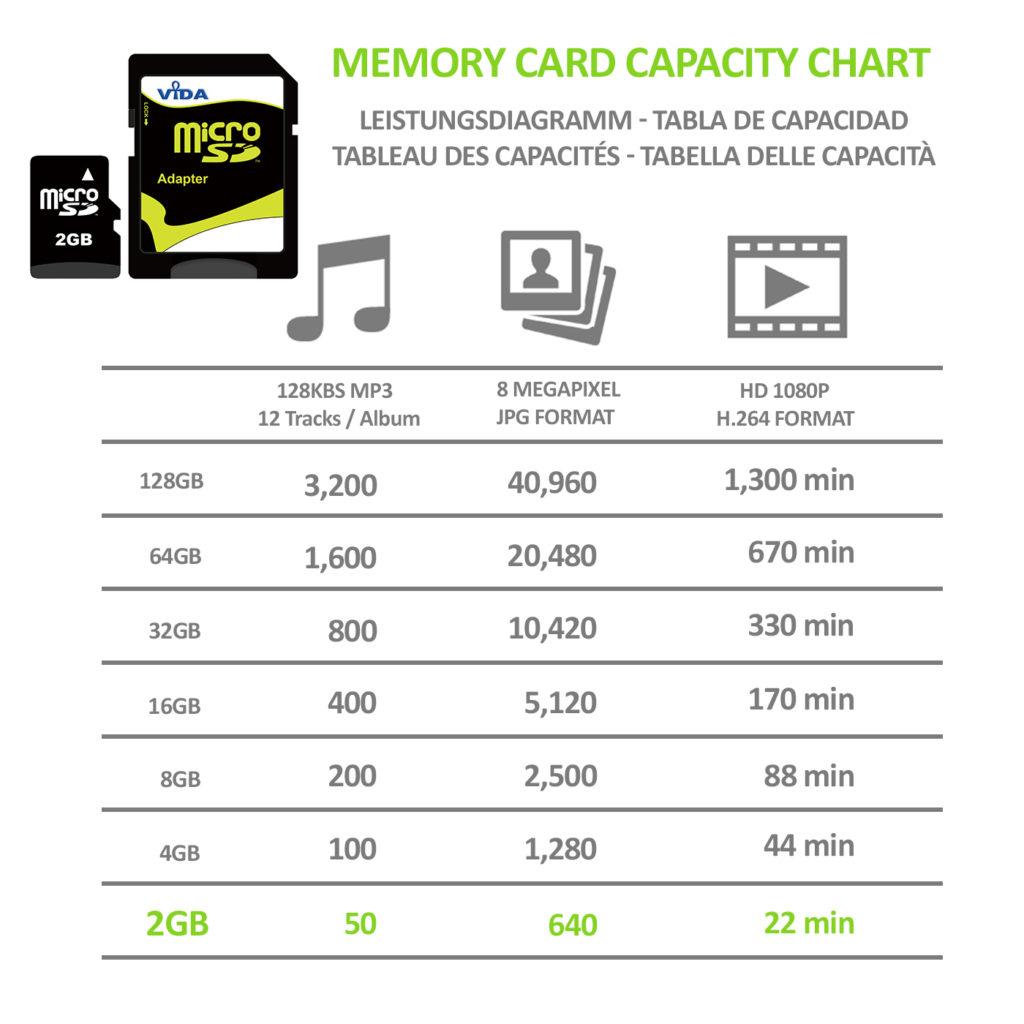 Vida IT 2GB micro SD memory card class 4