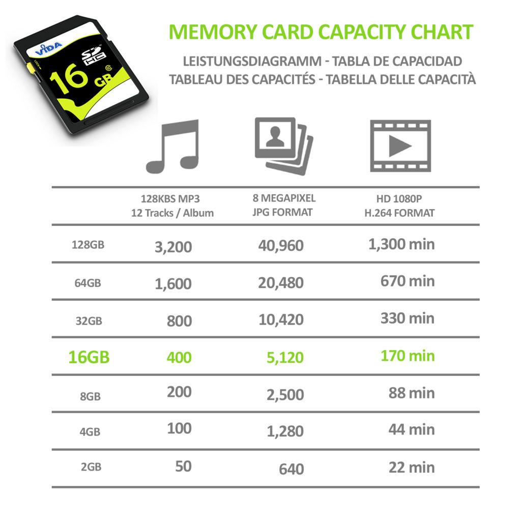 Vida 16GB SD/SDHC Secure Digital Class 10 Memory Card
