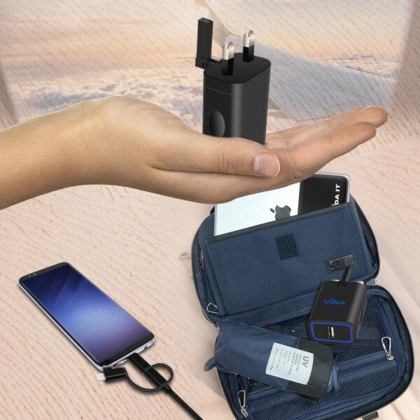 Vida IT VS1 Fast 1-Port USB Wall Charger 5V 2.4A Mains Adapter (UK Plug)