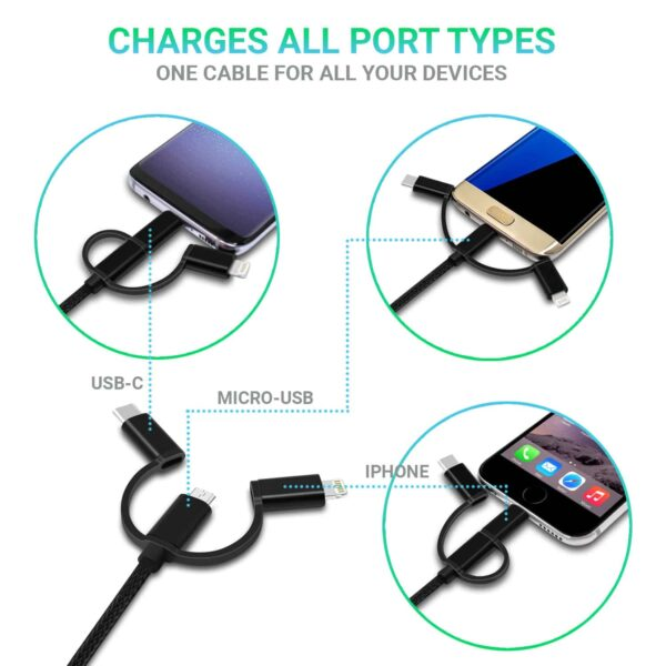 Vida IT V-C5 USB 3-in-1 Cable iPhone USB-C micro