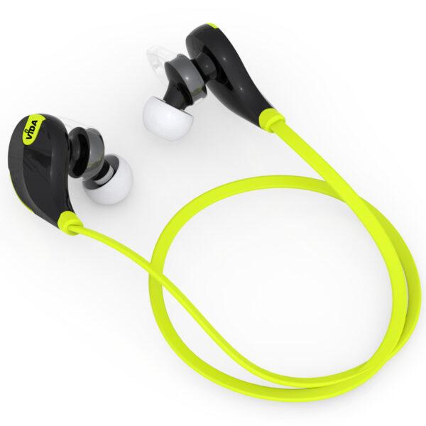 Vida IT V7 Sports Stereo Wireless Bluetooth V4.0 Earphones (Black/Green)