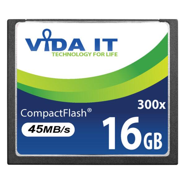 Vida IT 16GB CF Compact Flash Memory Card 300X Speed 45MB/s